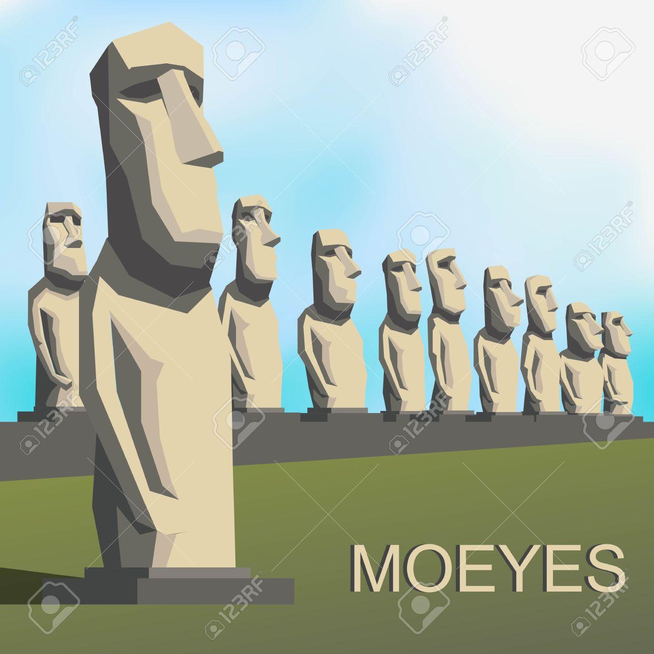 Moai Moeye Monolithic Human Figures By Rapa Nui People Royalty.