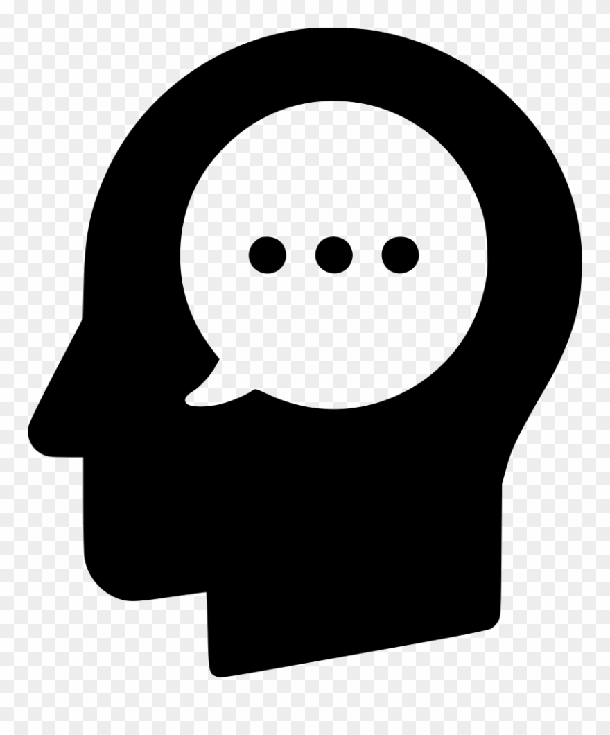 Message Head Think Sms Communication Monologue User.