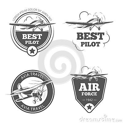 Monoplane Stock Illustrations.