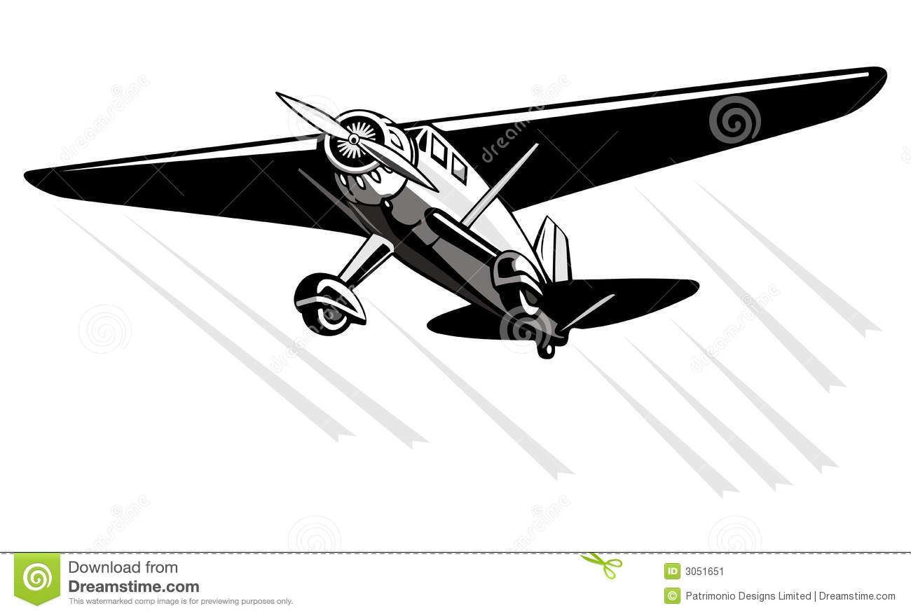 Fairchild Monoplane Stock Image.