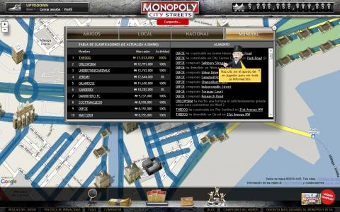 Monopoly City Streets (Webapps).
