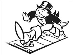 Monopoly game night clipart.