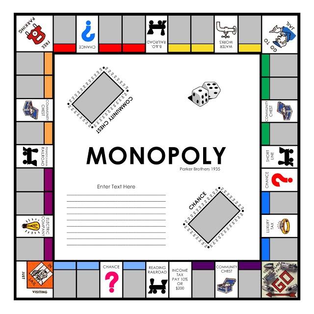 Similiar Monopoly Board Game Outline Keywords.