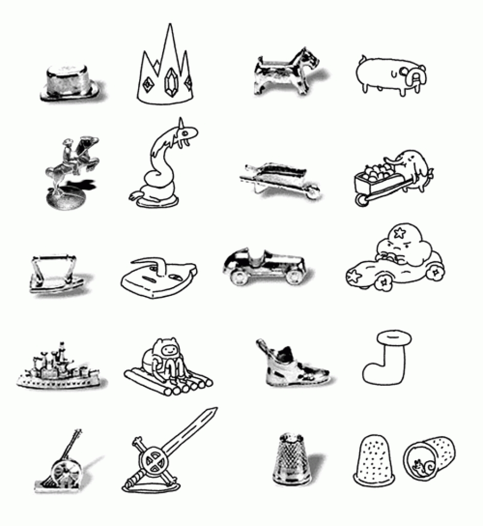 best monopoly clip art 18462 clipartion monopoly game pieces.