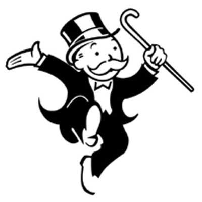 I chose the Monopoly guy to represent Gatsby because they are both.