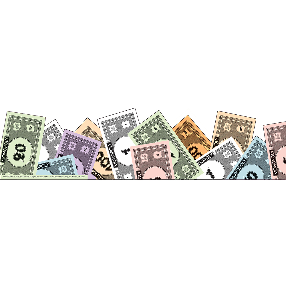 Monopoly Money Extra Wide Bulletin Board Trim.