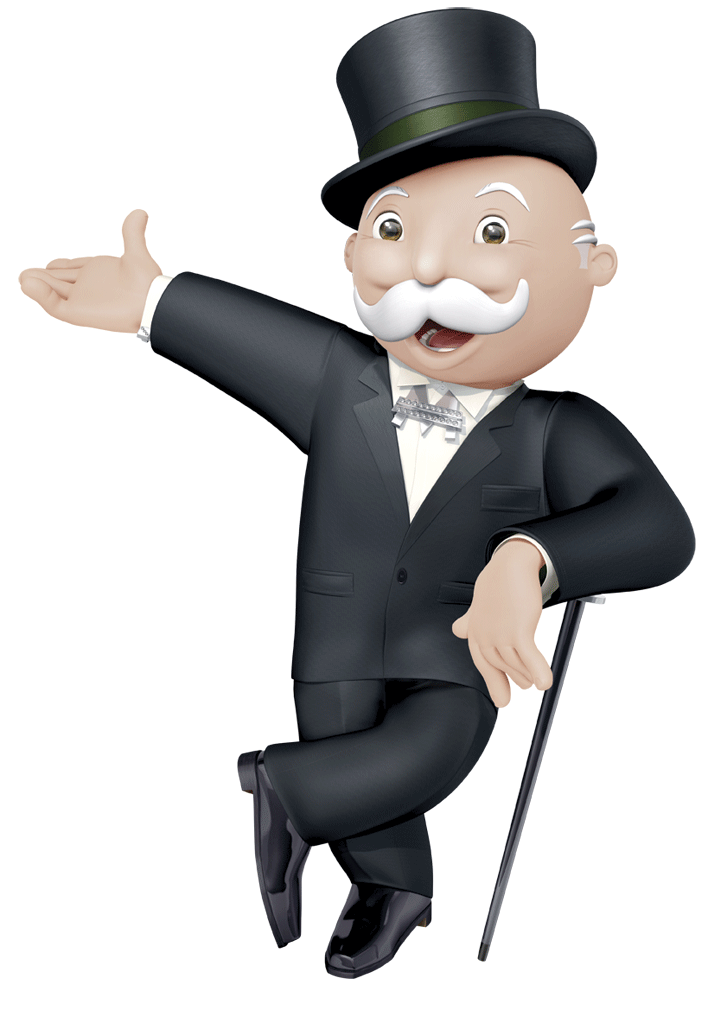 Mr Monopoly Standing transparent PNG.