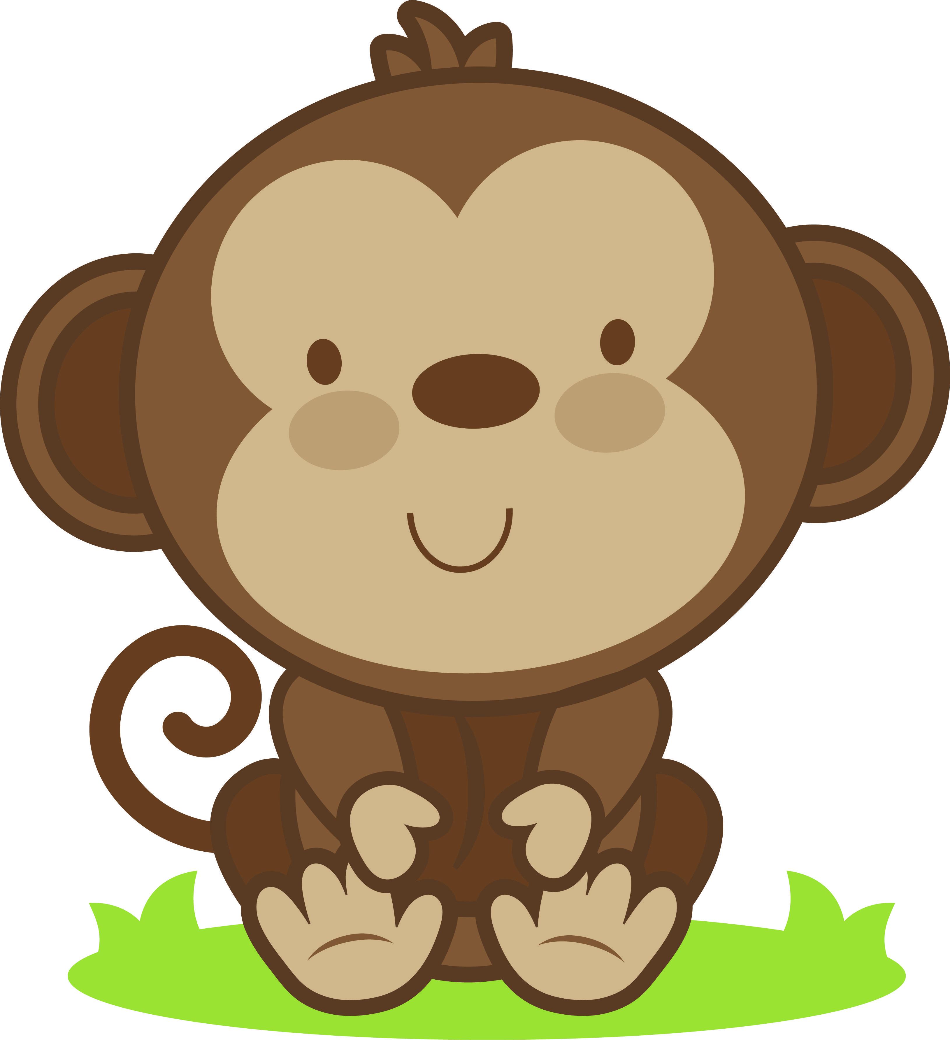 Dibujos Monos Infantiles. Good Animales De La Selva Una.