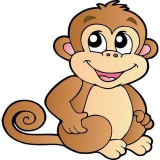 Cartoon Monkey clipart.