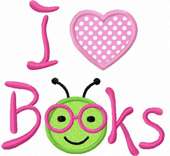 Clipart love books.