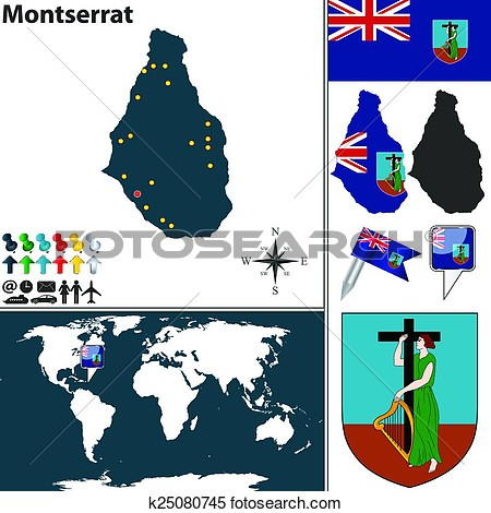 Montserrat clipart.