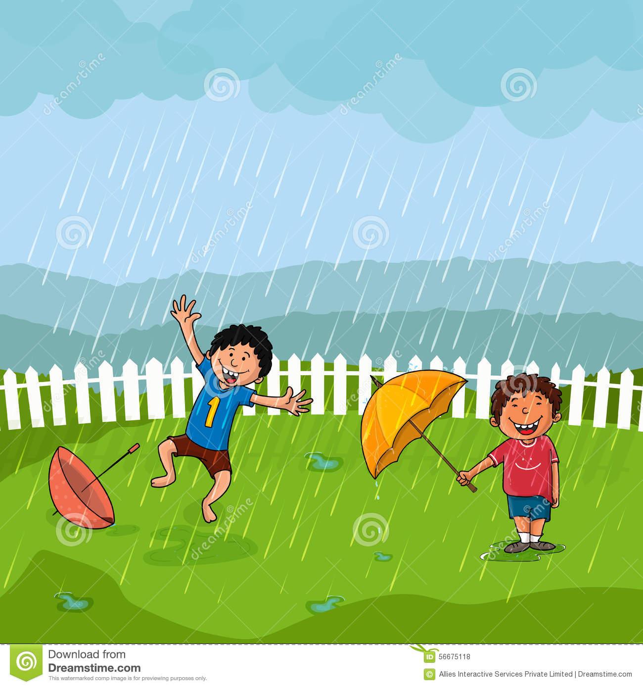 Monsoon Stock Illustrations.