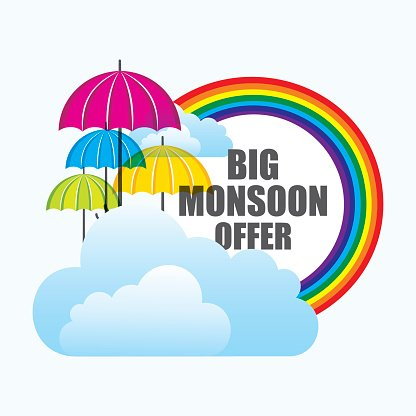 big monsoon offer banner design Clipart Image.