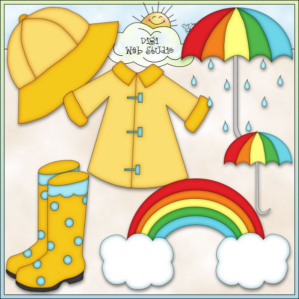 Things We Use In Rainy Season Clipart.