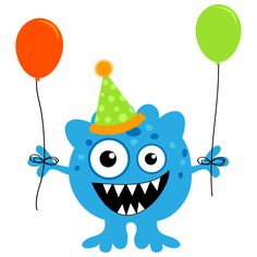Little Monster Birthday Clipart.