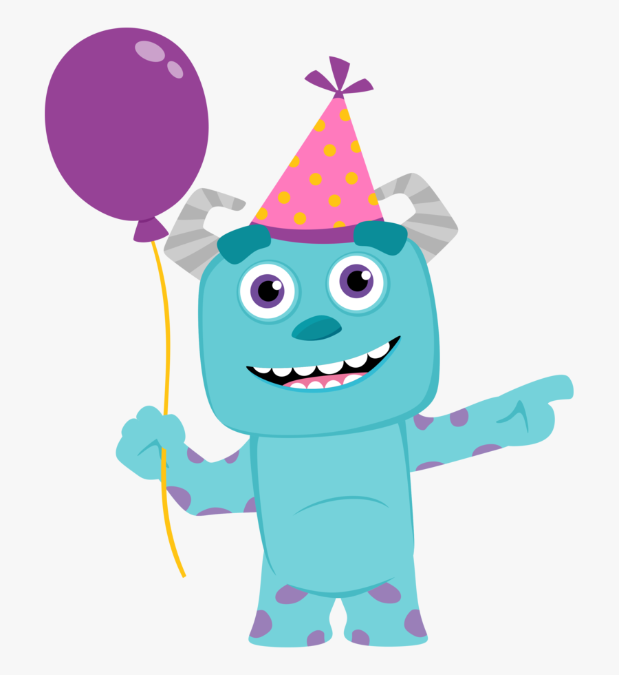 James Monsters Inc Birthday Clipart.