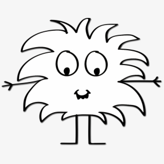 PNG Monster Black And White Cliparts & Cartoons Free.