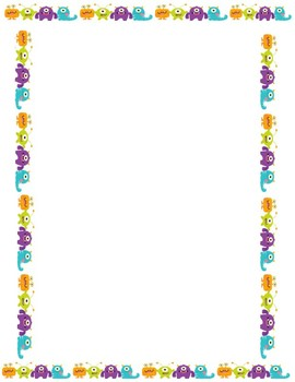Monster Page Border Worksheets & Teaching Resources.