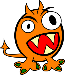 Monster Clip Art Cartoon.