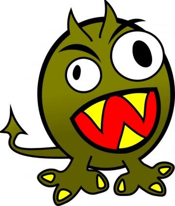 Dancing monster clipart.