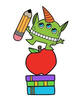 School Monsters Clipart.