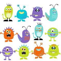 100 Best monster clipart images in 2015.
