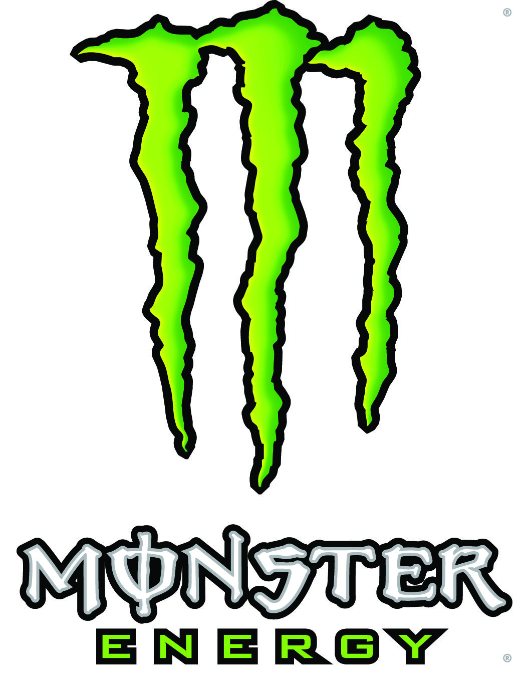 Purple Monster Energy Drink Symbol.