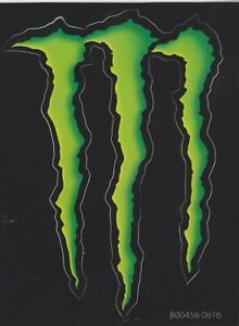 Details about MONSTER ENERGY RACING STICKER GREEN M.