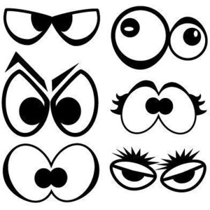 Spooky Eyes decal pack cute cartoon monster eyes assorted as.