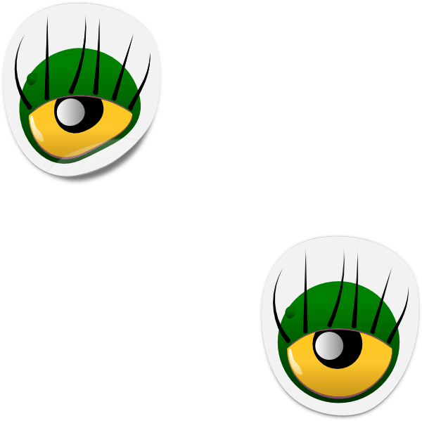 Dogface Jim Monster Eye Sticker Clip art.