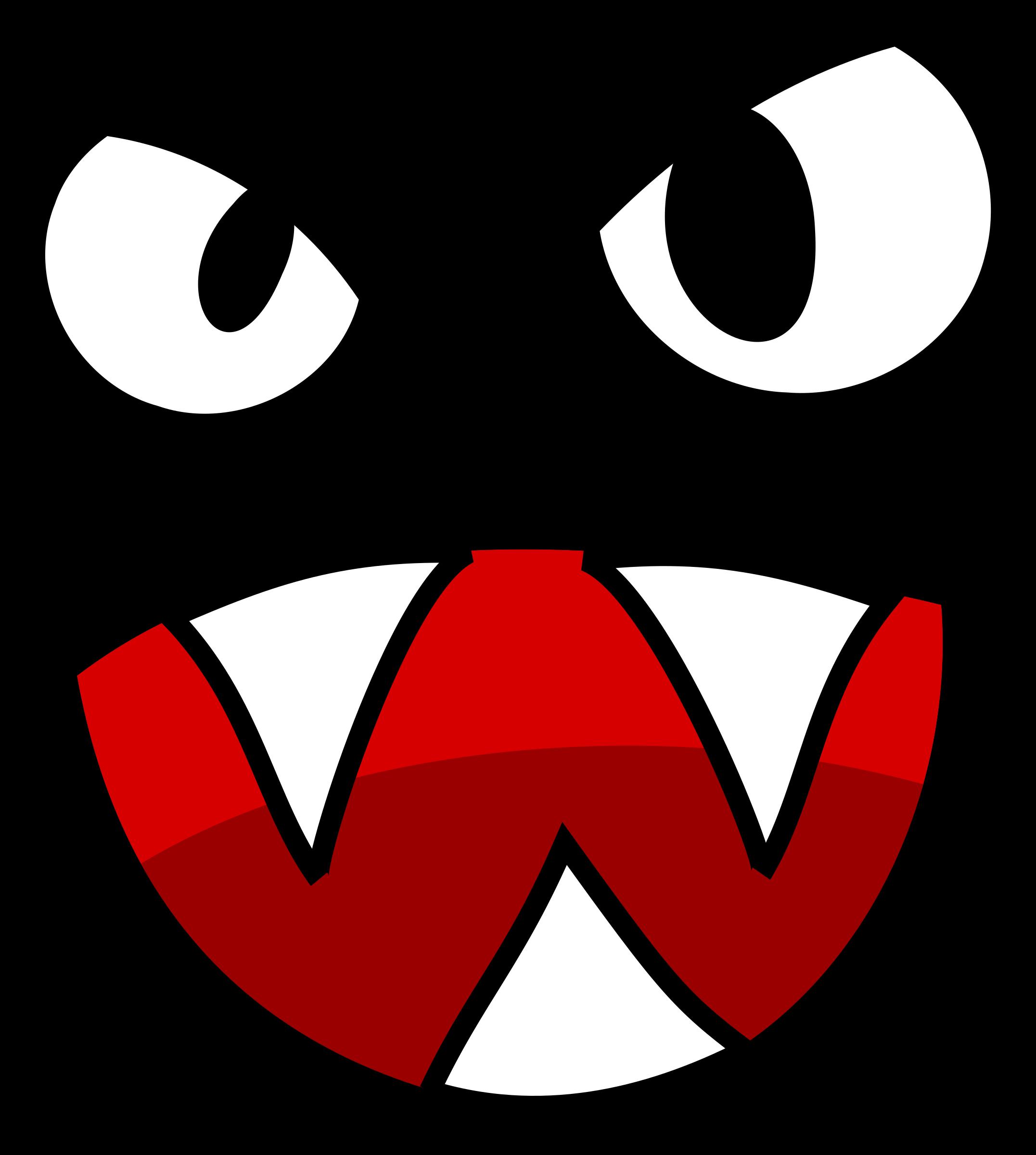 Monster face clipart.