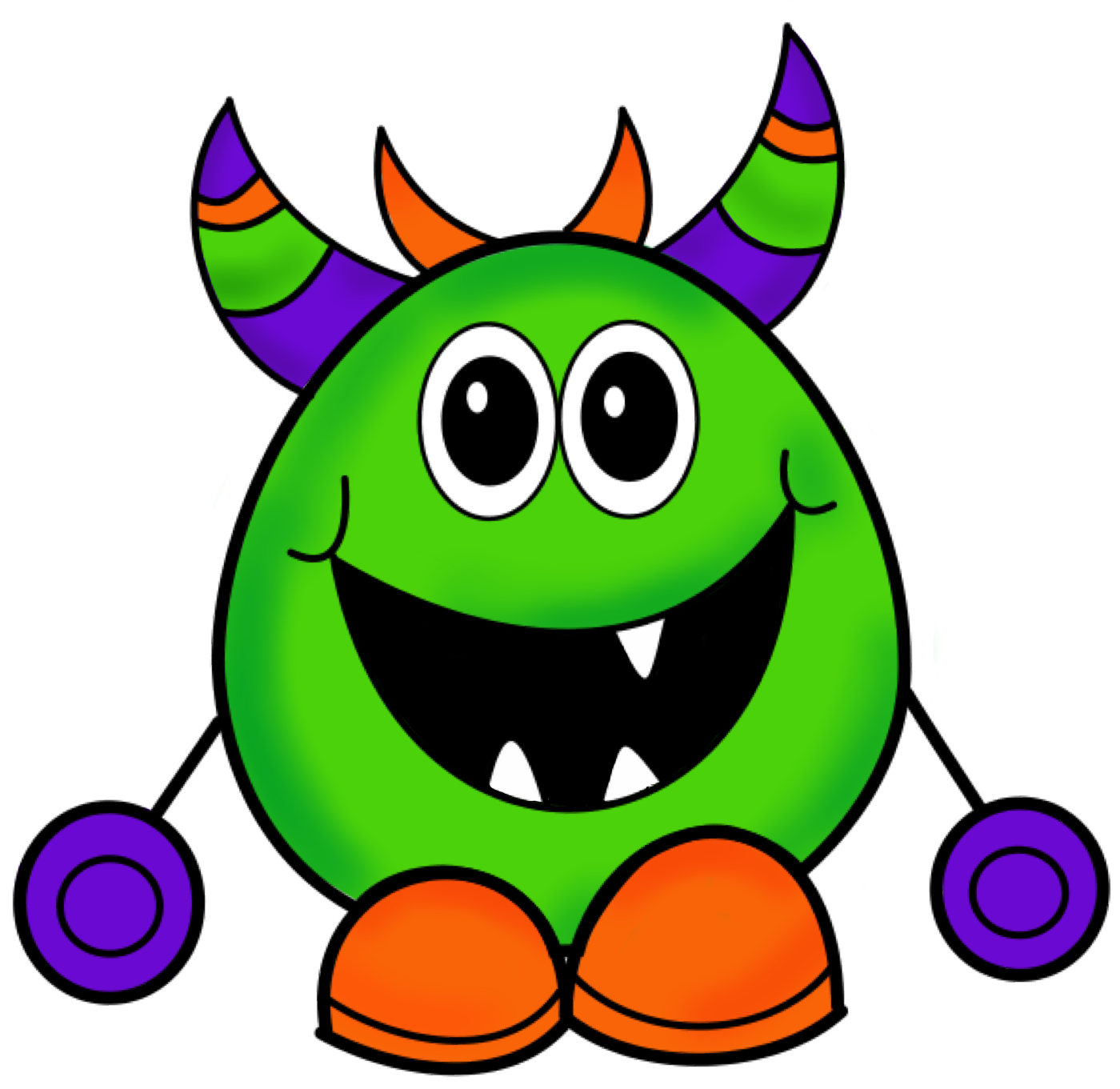 Monster Face Clip Art N2 free image.