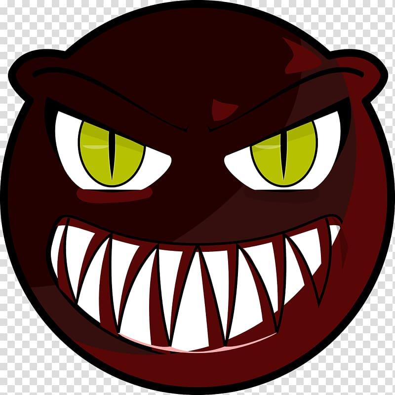 Monster Face , Evil transparent background PNG clipart.