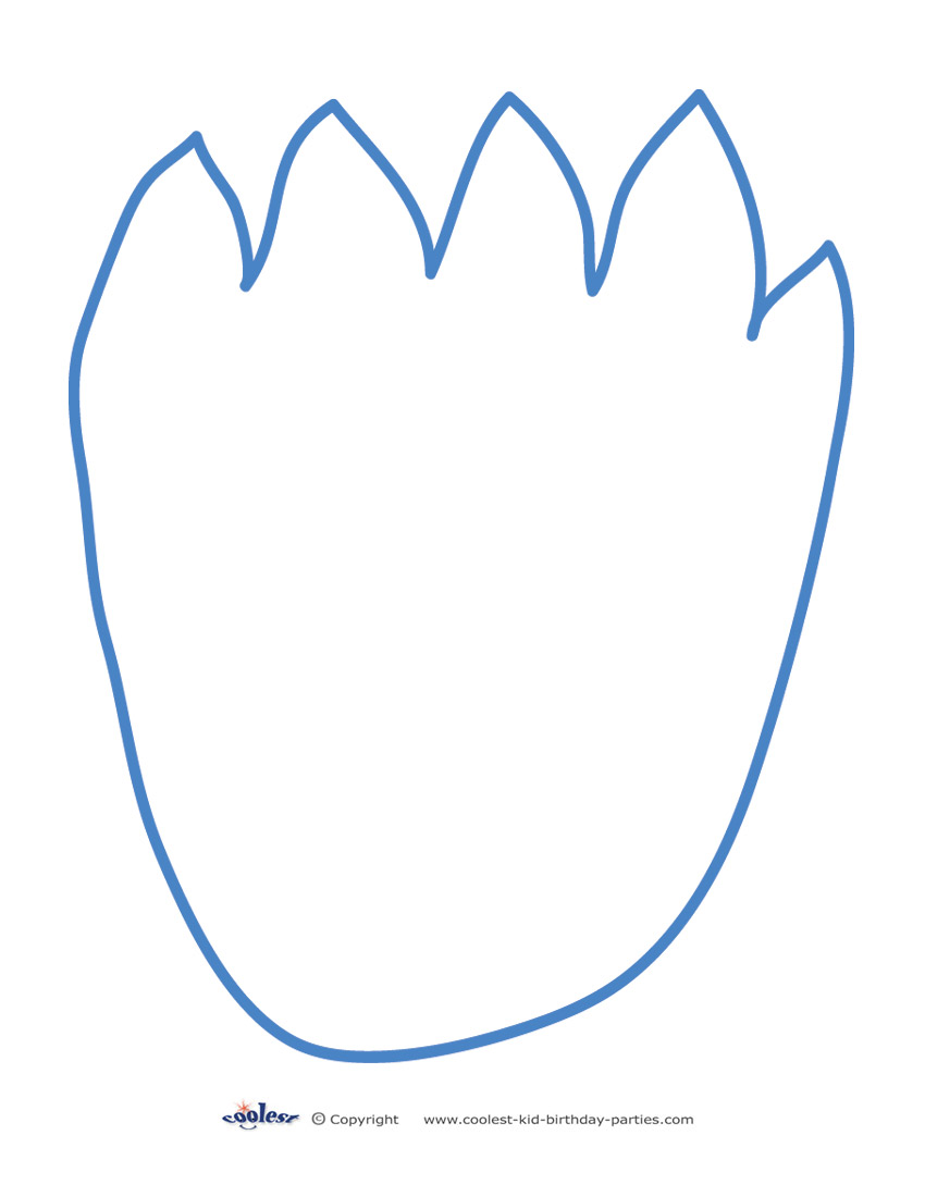 Printable Cookie Monster Footprint.