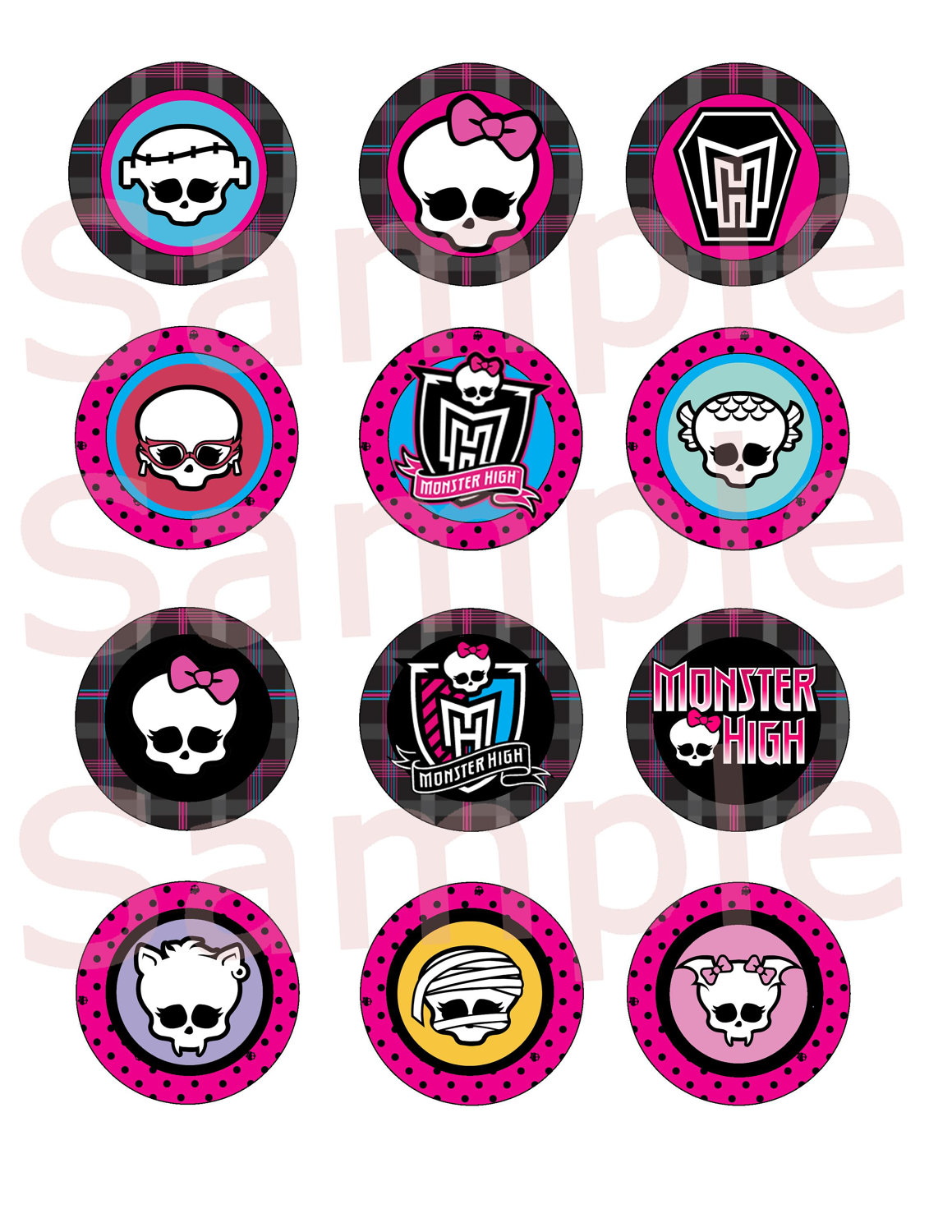 Monster High Clipart Printable.
