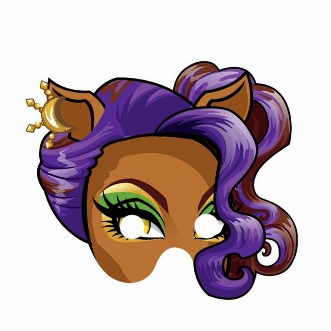Monster High Free Printable Masks..