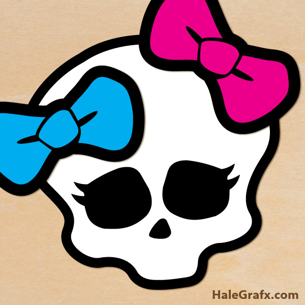FREE Printable Monster High Pin the Bow on the Skull.
