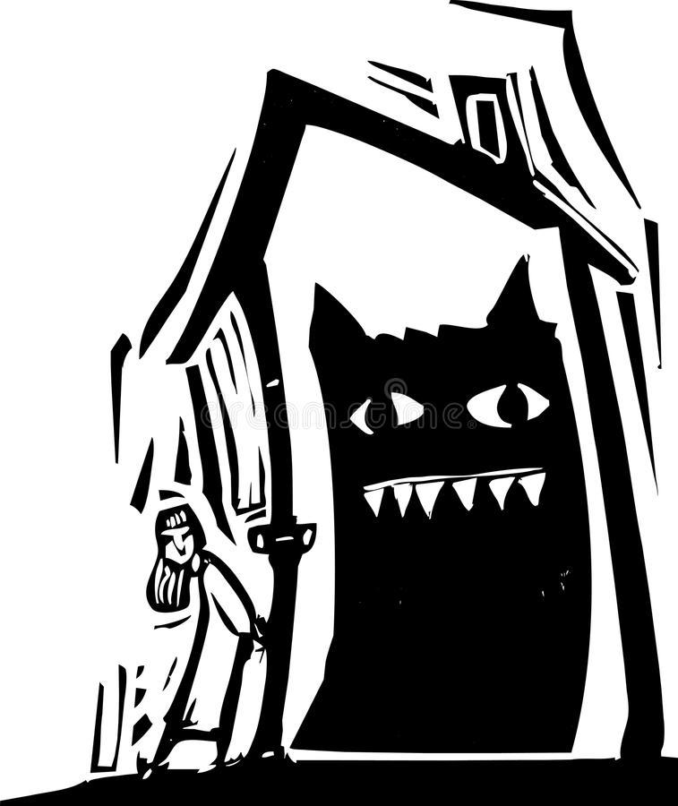 Monster House Stock Illustrations.