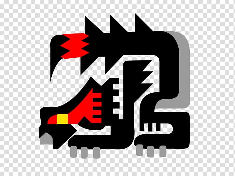 Monster Hunter Nargacuga Icon, black and gray dragon.