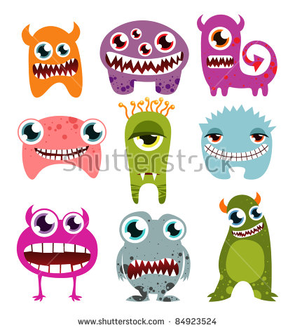 Monster Teeth Stock Images, Royalty.