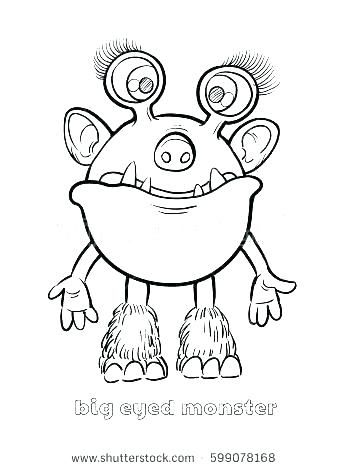 monster outline clipart.