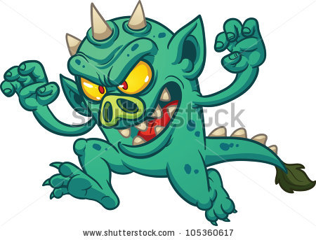 Green Monster Stock Images, Royalty.