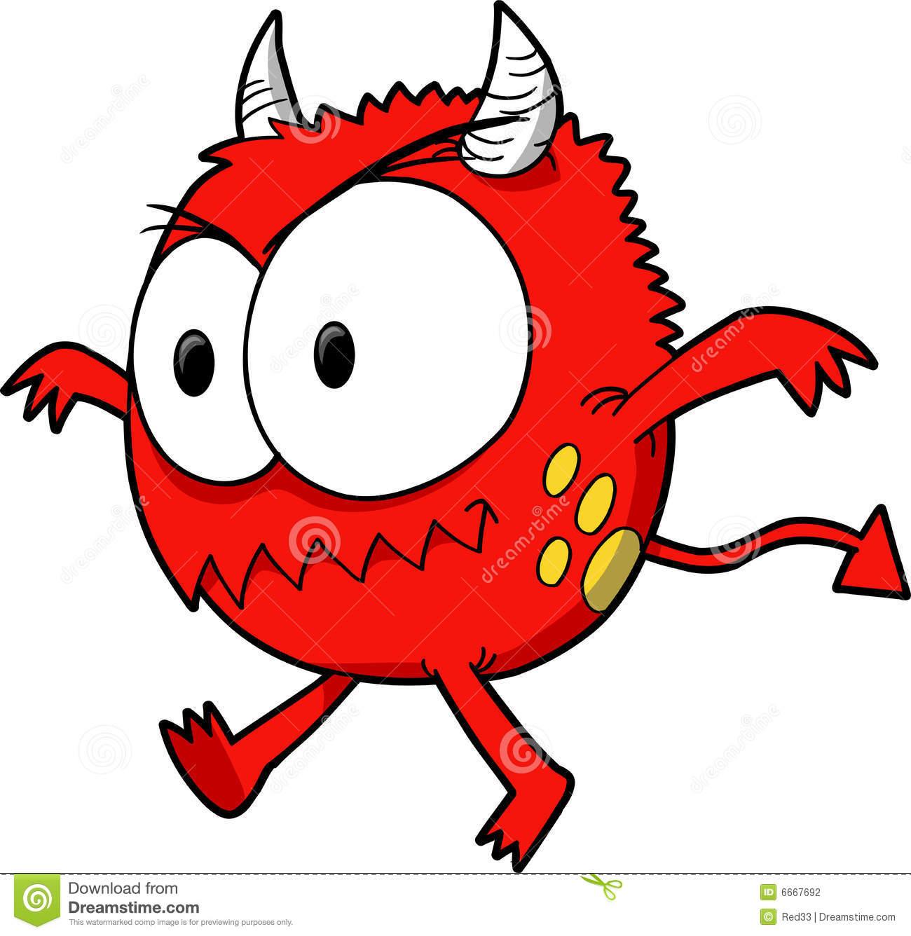 Devil Running Stock Illustrations.