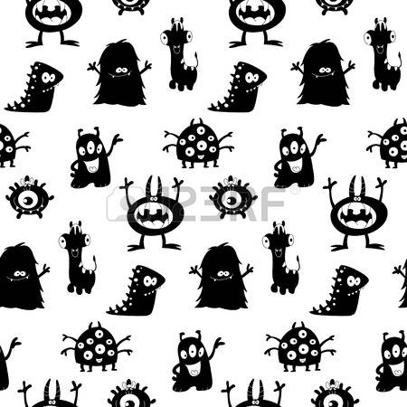 19,546 Silhouette Monster Cliparts, Stock Vector And Royalty Free.