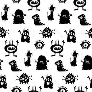 Best Monster Silhouette Free Clipart Picture.