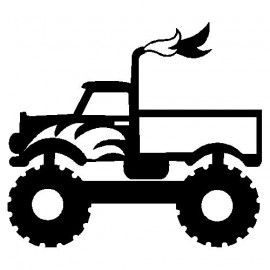 Free clip art of monster truck clipart 6 silhouette vinyl.