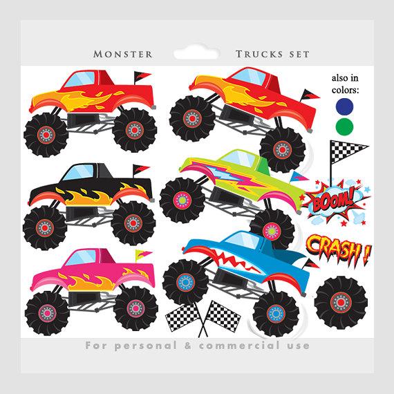 Monster trucks clipart.