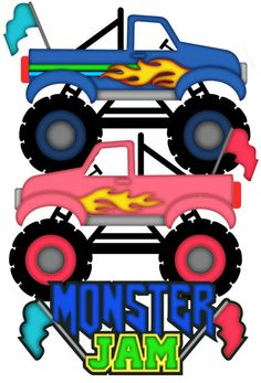 Monster trucks clipart.