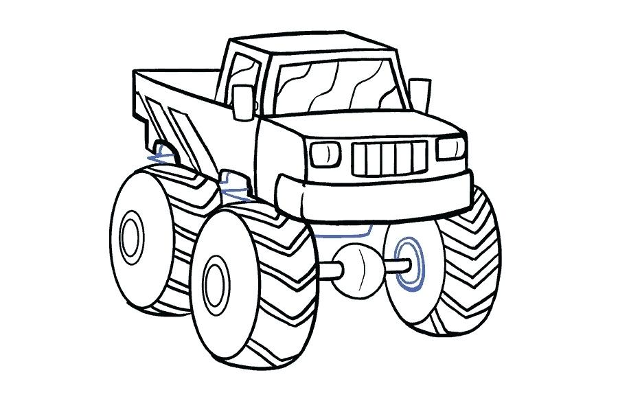 Collection of Monster truck clipart.