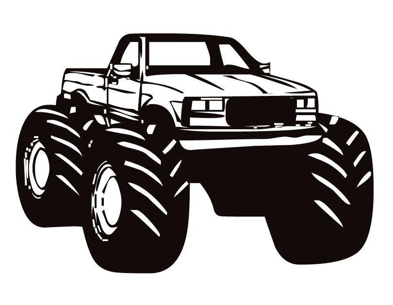 Monster truck clip art black and white clipartfox 2.